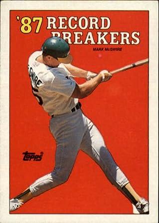 Amazoncom 1988 Topps Baseball Rookie Card 3 Mark Mcgwire