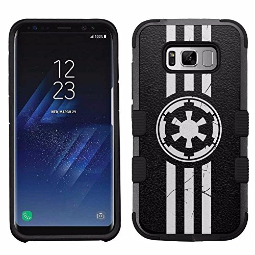 for Samsung Galaxy S8, Hard+Rubber Dual Layer Hybrid Heavy-Duty Rugged Armor Cover Case - Star Wars Imperial (Star Wars Case)