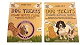 Trader Joe's Low Fat Wholesome Dog Biscuit Treats with Natural Ingredients Value Bundle – 1 Box Peanut Butter Flavor & 1 Box Assorted Natural Flavors (24 Oz. Per Box) For Sale