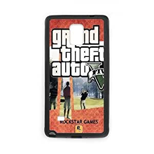 GTA 5 Scenes Playcard Samsung Galaxy Note 4 Cell Phone Case Black Protect your phone BVS_682224