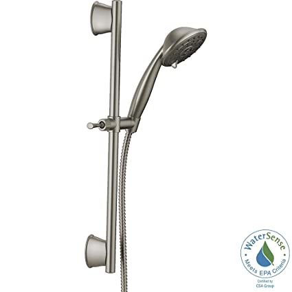 Delta Porter 3-Spray Wall Bar Shower Kit in SpotShield Brushed ...
