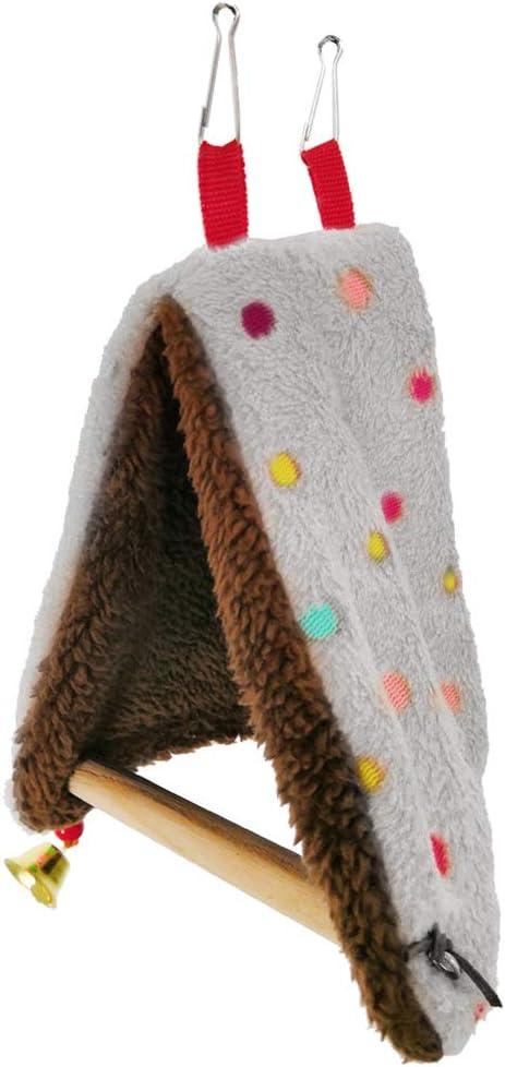 BUIDI cálido Nido de pájaro Cama Hamaca casa Percha para Loro Periquito pinzón Canario Jaula Juguete Loro Nido Camello 15 cm x 12 cm 6/5,91 Pulgadas x 4,72 Pulgadas