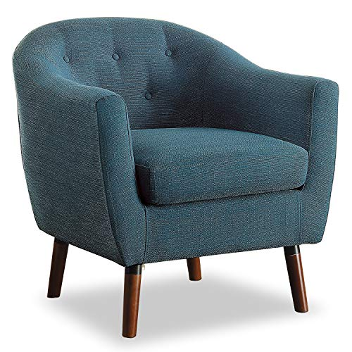 Homelegance Lucille Fabric Barrel Chair, Blue