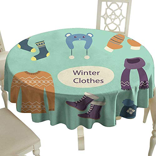 WinfreyDecor Decorative Textured Fabric Tablecloth Hand Drawn ski Station Great for Buffet Table D51 ()