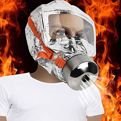 - 30 minutes Fire Escape Mask Forced 3C Certification Fire Respirator Gas Mask Emergency Escape Respirator Mask, Safety&Protective Mask Against Smoke, Carbon Monoxide and Toxic Fumes