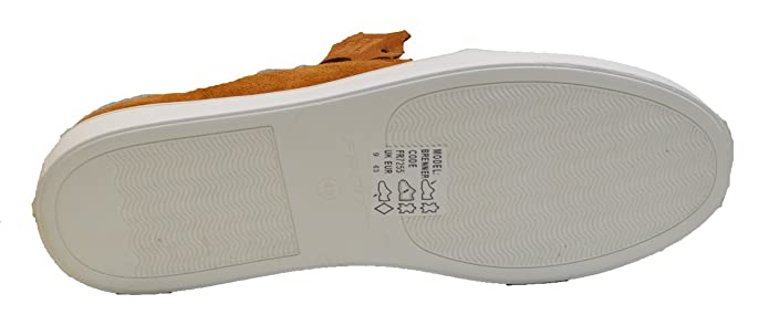 c8cd75dab90 Front BRENNER Mens Suede Slip On Trainers Tan UK 9  Amazon.co.uk  Shoes    Bags