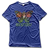 JU-LIAN Men's Iron Butterfly Logo Cotton Tshirts