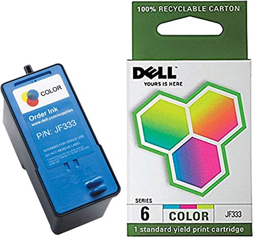 Dell Computer JF333 6 Standard Capacity Ink Cartridge for 725/810 - Prints Both Black and - Colour Dell Jf333