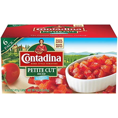- Contadina Petite Cut Diced Roma Style Tomatoes, 6 Count