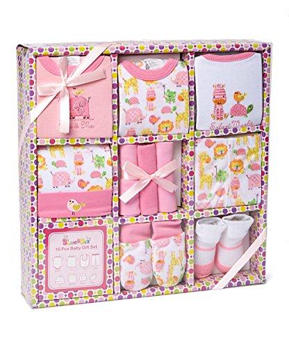 Sweet & Soft 10 Piece Baby Shower Gift Basket set (BX077 Pink)