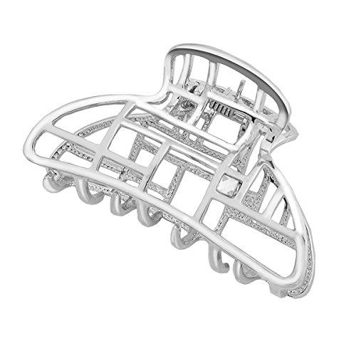 IPINK Women's Vintage Metal Claw Hair Clip Antique Silver,Champagne (004)