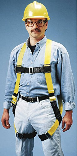 Miller by Honeywell 650-4/UYK Standard Non Stretch Harness with Tongue Buckle Leg Straps, Universal