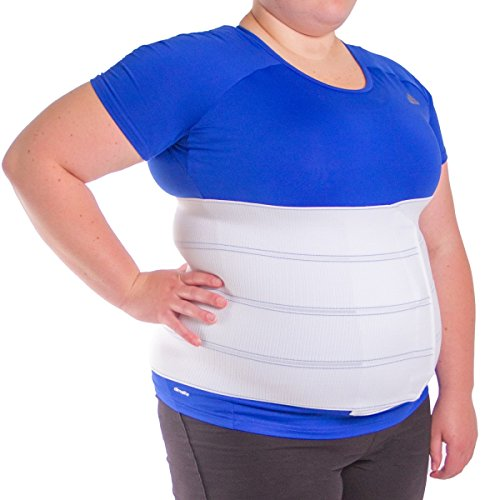 BraceAbility 3XL Plus Size Bariatric Abdominal Stomach Binder | Obesity Girdle Belt for Big Men & Women with a Large Belly, Post Surgery Tummy & Waist Compression Wrap (60