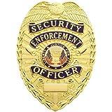 HWC 8112G Gold Style Security Enforcement Officer Guard Uniform Shirt Jacket Metal Badge Shield