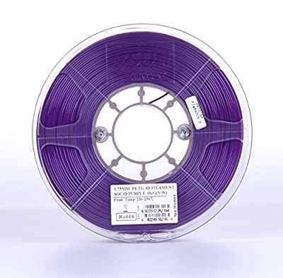 eSUN 3D 1.75mm Solid Purple PETG 3D Printer Filament 1KG Spool (2.2lbs), 1.75mm Solid Opaque Purple