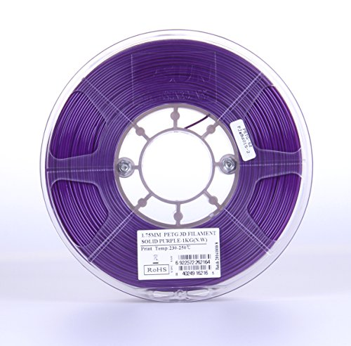 eSUN 3D 1.75mm Solid Purple PETG 3D Printer Filament 1KG Spool (2.2lbs), 1.75mm Solid Opaque Purple