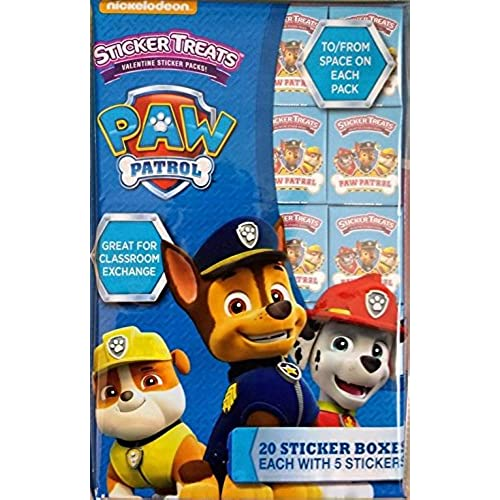 Paw Patrol Sticker Treats Valentine Sticker Packs Sales