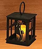 Made in USA Seahorse Themed Steel Candle Lantern