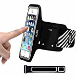 iPhone 5/5S/SE Running Armband Case Sweatproof, EOTW Cell Phone Sports Armband Pouch with Key Holder for Walking,Jogging,Gym,Cycling,Exercising