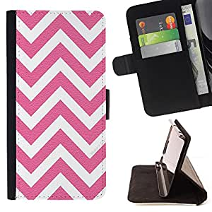 Jordan Colourful Shop - white pink pattern minimalist For Apple Iphone 5 / 5S - Leather Case Absorci???¡¯???€????€?????????