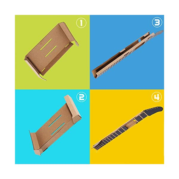 MENEEA Cardboard Guitar for Nintendo Switch Accessories Variety Kit,Guitar for Toy-Con Garage 3