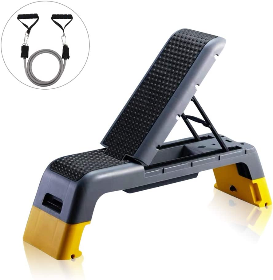 Tespon Adjustable Fitness Deck Weight Bench Stepper and ...