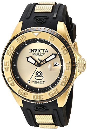 Invicta Men s Pro Diver Chinese-Automatic Diving Watch with Silicone Strap, Black, 28.2 Model 25255