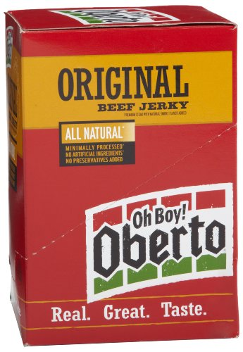 Oberto All Natural Original Beef Jerky, 1.5 Ounce Bag (Pack of 8)