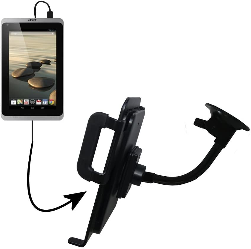 Unique Suction Cup Mount/Holder Stand Designed for The Acer Iconia A1-830 Tablet