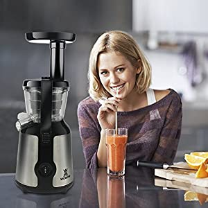 WOWOW Juicer Extractor-Slow Juicer Machine for High Nutrient Fruit and Vegetable Juice/BH8806