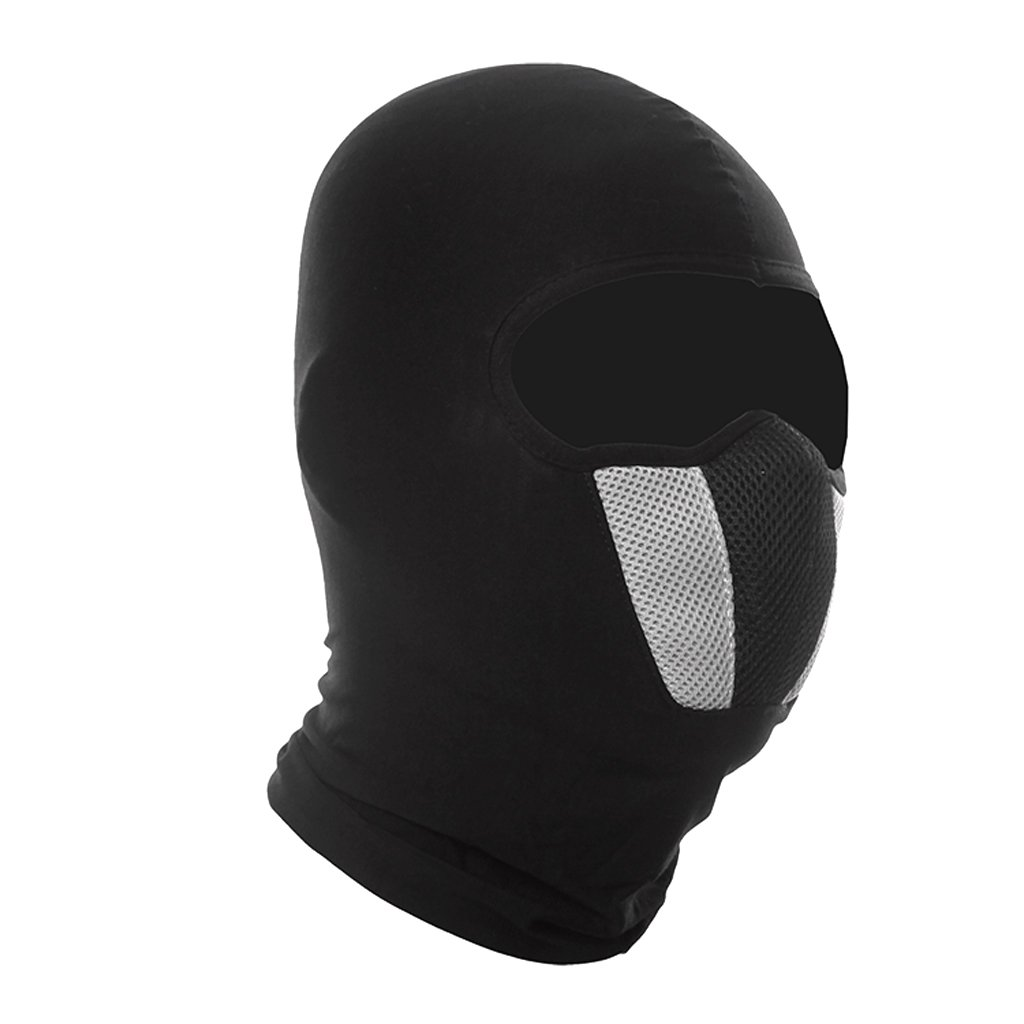 MagiDeal Windproof Face Mask - Balaclava Hood, Cold Weather Motorcycle Ski Dust Mask,Ultimate Thermal Retention in Outdoors Super Comfortable Hypo-allergenic Moisture Wicking - Black grey, as described