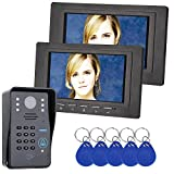 video access control - GAMWATER 7 inch 2 Monitor RFID Password Video Door Phone Intercom Doorbell With IR Camera 1000 TV Line Access Control System