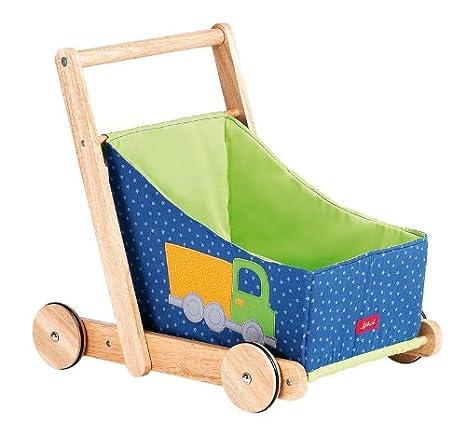 Sigikid 37768 1Plus - Carrito de madera para muñecas, color azul: Amazon.es: Juguetes y juegos