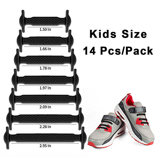 c98287063eb73 HOMAR No Tie Shoelaces for Kids and Adults - Best in Sports Fan Shoelaces -  Waterproof Silicone Flat Elastic Athletic Running Shoe Laces with ...