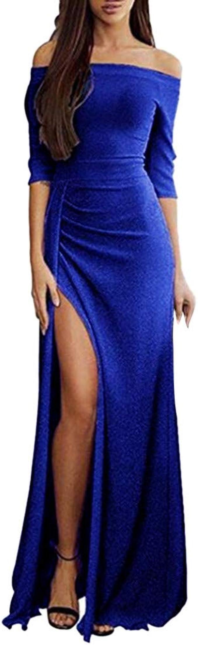 CICIYONER Damen Einteilige Tasche Hüfte Kleid Abendkleid offen