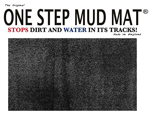 One Step Mud Mat Original Made in England 19W x 31L Small Door Mat.(Black) Indoor Floor Mat with Non Slip Backing Traps…