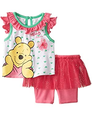 Baby-Girls Winnie The Pooh Hello There Short Set