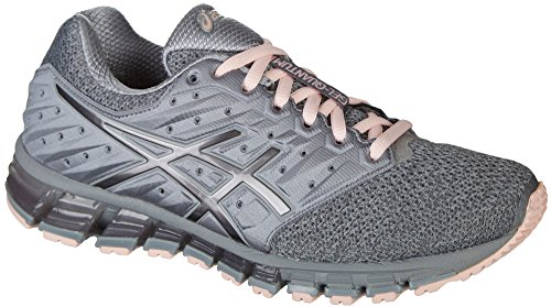 ASICS Gel-Quantum 180 2 MX Women's Running Shoe, Stone Grey/Carbon/Seashell Pink, 7 M US
