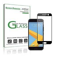 Protector de pantalla amFilm HTC 10 (cobertura total), protector de pantalla Dot Matrix Tempered Glass Edge a Edge para HTC 10 con garantía de por vida de reemplazo (1 paquete) [en empaque minorista]