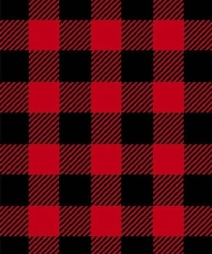 amazon com buffalo plaid red black fleece fabric print by the yard