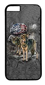 Iphone 5C Case, Stars And Stripes Rock Wolf Designer Rugged Hard Plastic Back Case Cover Protector for Iphone 5C (4.7INCH) PC Black Kimberly Kurzendoerfer