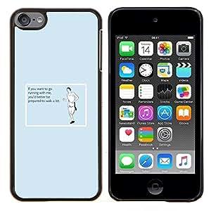 TECHCASE---Cubierta de la caja de protección para la piel dura ** Apple iPod Touch 6 6th Touch6 ** --Ejercicio Traing Entrenamiento Running Cita divertida