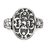 925 Sterling Silver Antique Locket Band Ring Fine