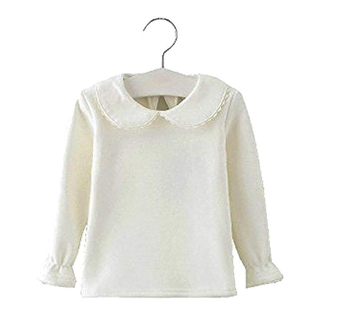 17c45a25c840 Amazon.com  Baby Girls Cotton Long Sleeve T Shirt Blouse Tops Bottom ...