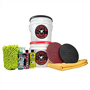 Chemical Guys HOL129 Best Two Bucket Wash and Dry Kit (11 Items), 16 fl. oz, 11 Pack