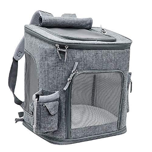 Tragetasche für Haustiere Max Faltbare Transportbox Katze-Hundewelpen-Reise Wandern Camping Öffnung For Soft-seitig…