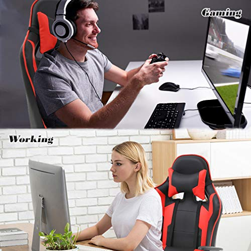 BestMassage Office High Racing with Footrest, Lumbar and