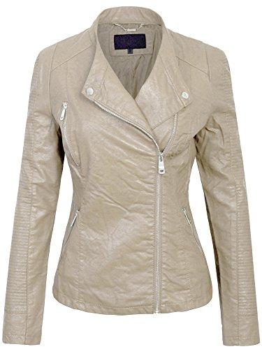 Leather Jacket Cream - 4