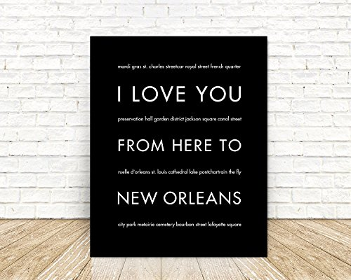 [New Orleans City Art Poster, Home Decor, Choose Your Color And Size] (Homemade Kids Costumes Easy)