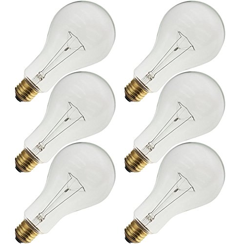 Industrial Performance 200PS25/CL 130V, 200 Watt, PS25, Medium Screw (E26) Base Light Bulb (6 Bulbs)